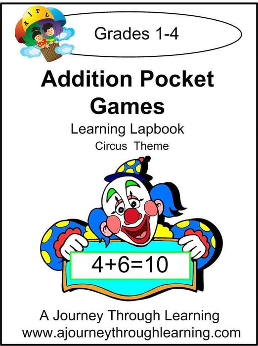 Addition Pockets Lapbook - A Journey Through Learning Lapbooks