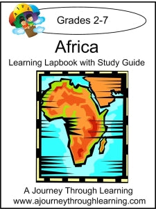 Africa Lapbook with Study Guide - A Journey Through Learning Lapbooks