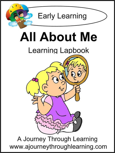 All About Me Lapbook - A Journey Through Learning Lapbooks