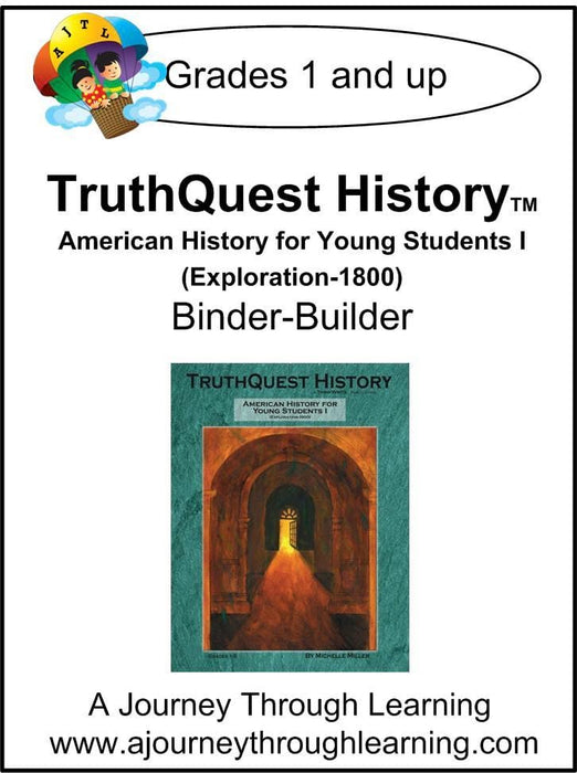 American History for the Young Child Book 1 Supplements $13-$18 - A Journey Through Learning Lapbooks