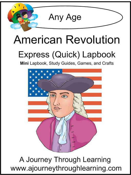American Revolution Express Lapbook - A Journey Through Learning Lapbooks