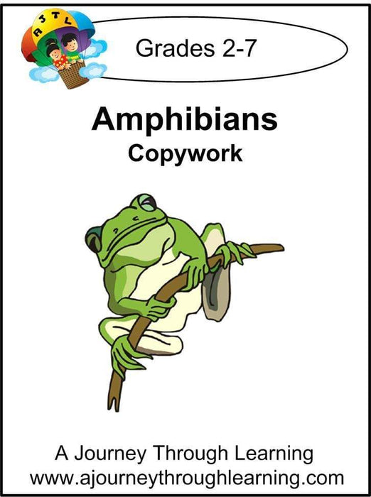 Amphibians Copywork (printed letters) - A Journey Through Learning Lapbooks