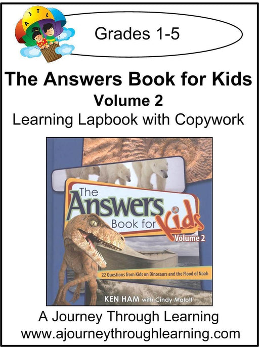 New Leaf Press-The Answers Book for Kids Volume 2 Lapbook - A Journey Through Learning Lapbooks