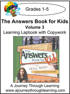 New Leaf Press-The Answers Book for Kids Volume 3 Lapbook - A Journey Through Learning Lapbooks
