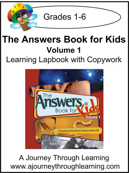 New Leaf Press-The Answers Book for Kids Volume 1 Lapbook | A Journey Through Learning Lapbooks