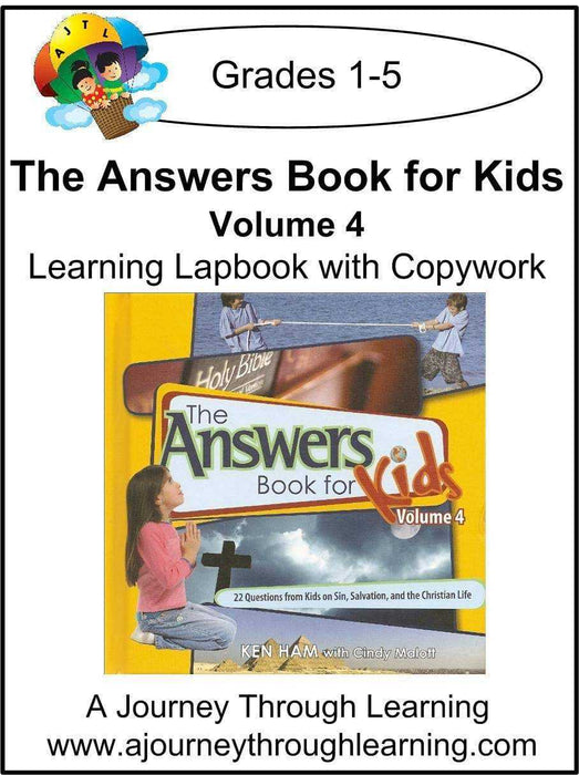New Leaf Press-The Answers Book for Kids Volume 4 Lapbook - A Journey Through Learning Lapbooks