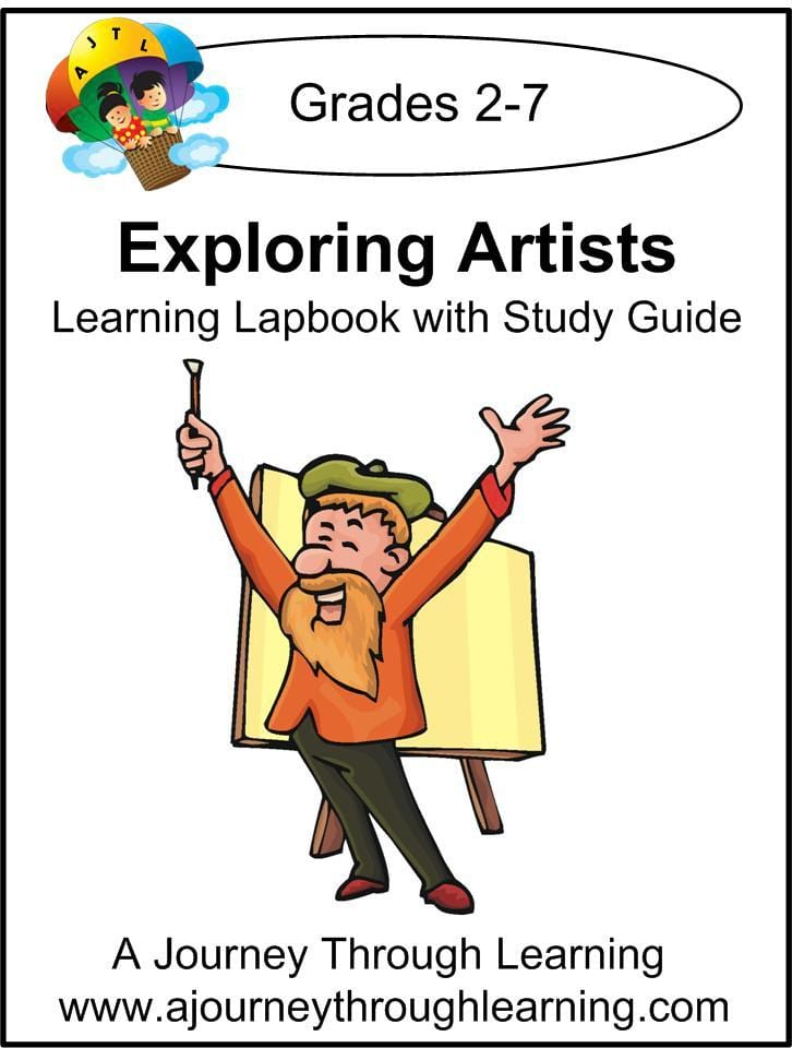 Exploring Artists Lapbook with Study Guide - A Journey Through Learning Lapbooks