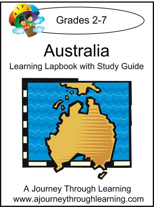 Australia Lapbook with Study Guide - A Journey Through Learning Lapbooks