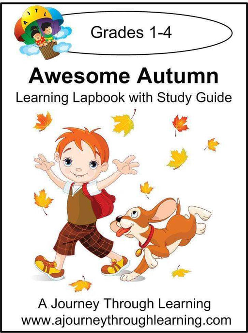 Awesome Autumn Lapbook with Study Guide - A Journey Through Learning Lapbooks