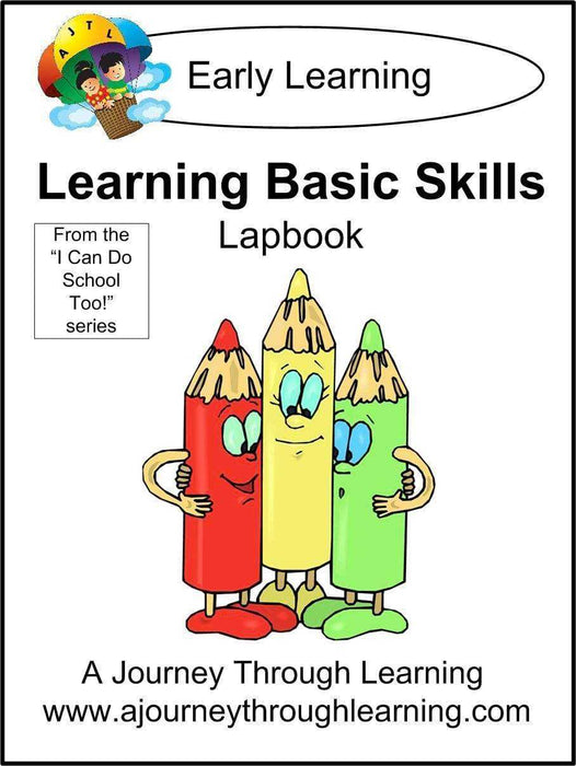 Learning Basic Skills Lapbook - A Journey Through Learning Lapbooks
