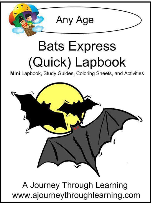 Bats Express Lapbook - A Journey Through Learning Lapbooks