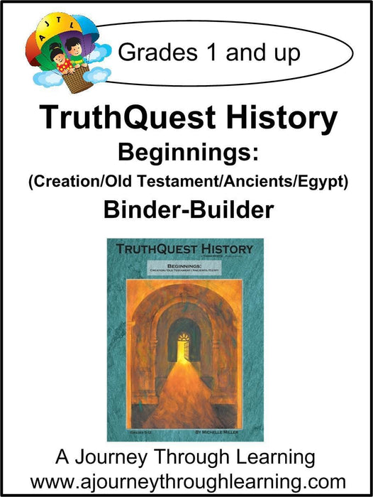 Beginnings (Creation/Old Testament/Ancients/Egypt) Supplements Made for TruthQuest History - A Journey Through Learning Lapbooks