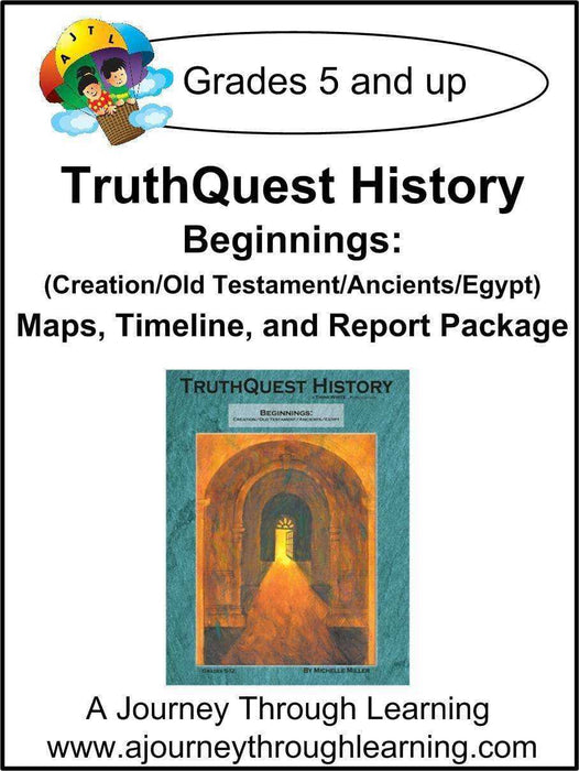 Beginnings (Creation/Old Testament/Ancients/Egypt) Supplements $13-$18 | A Journey Through Learning Lapbooks
