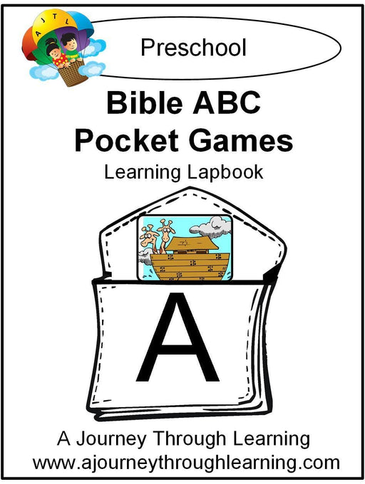 Bible ABC Pockets Lapbook | A Journey Through Learning Lapbooks