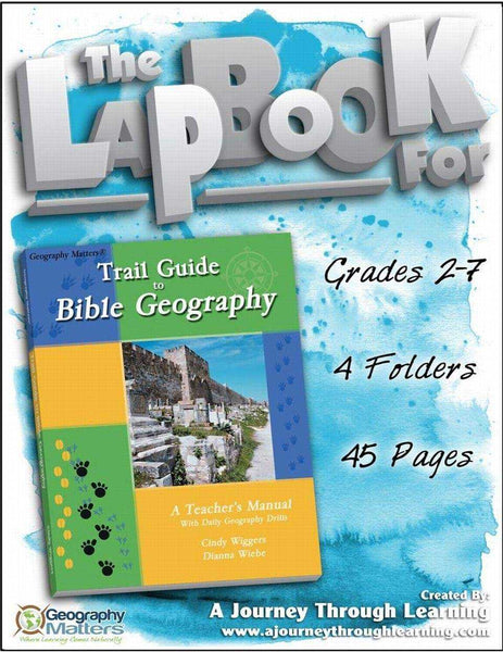 Trail Guide to Bible Geography Lapbook - A Journey Through Learning Lapbooks