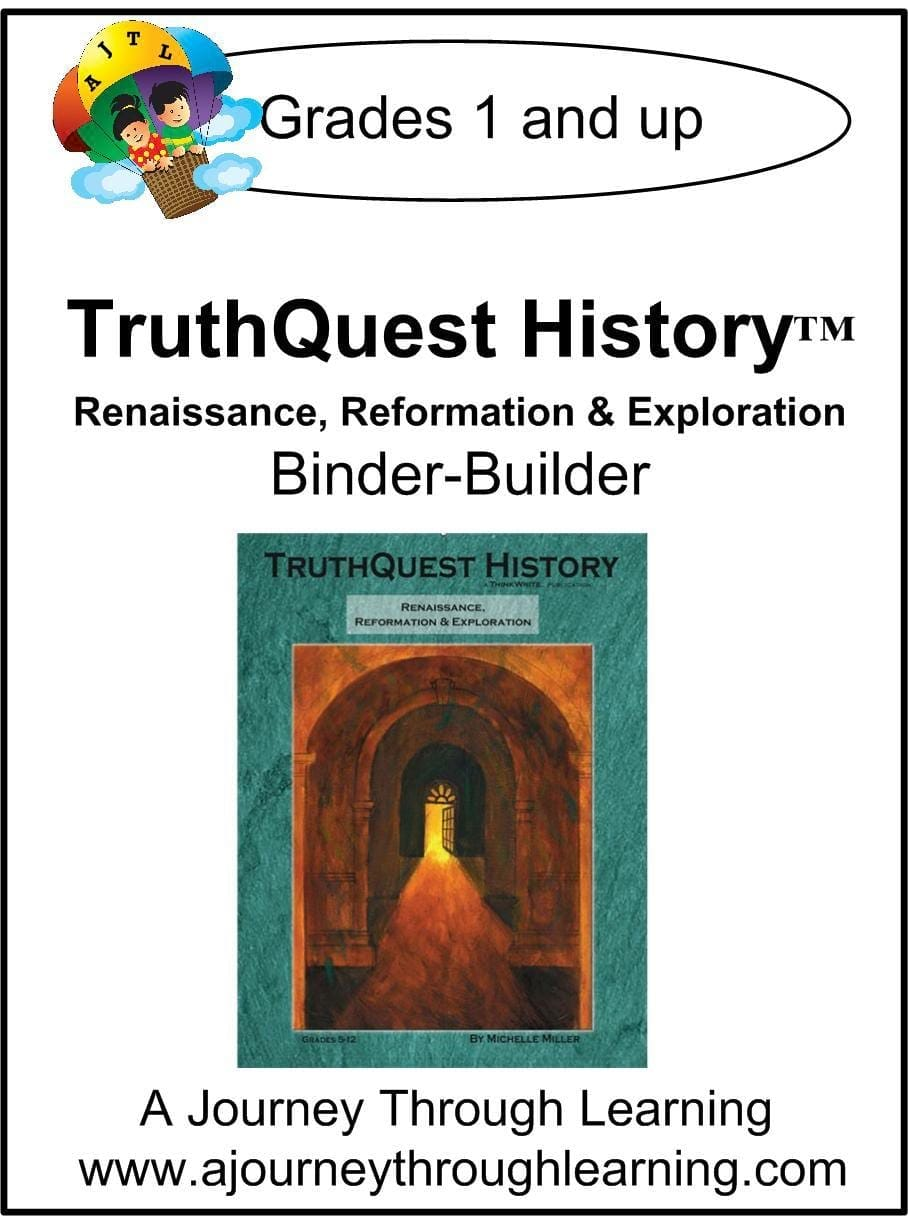 Renaissance/Reformation/Exploration Supplements Made for TruthQuest History - A Journey Through Learning Lapbooks