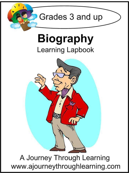 Biography Lapbook (no study guide) - A Journey Through Learning Lapbooks