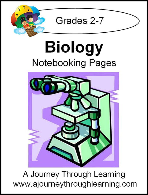 Biology Notebooking Pages | A Journey Through Learning Lapbooks