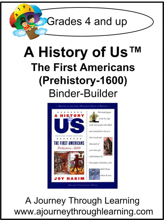 A History of Us Book 1- The First Americans Lapbook Binder-Builder | A Journey Through Learning Lapbooks