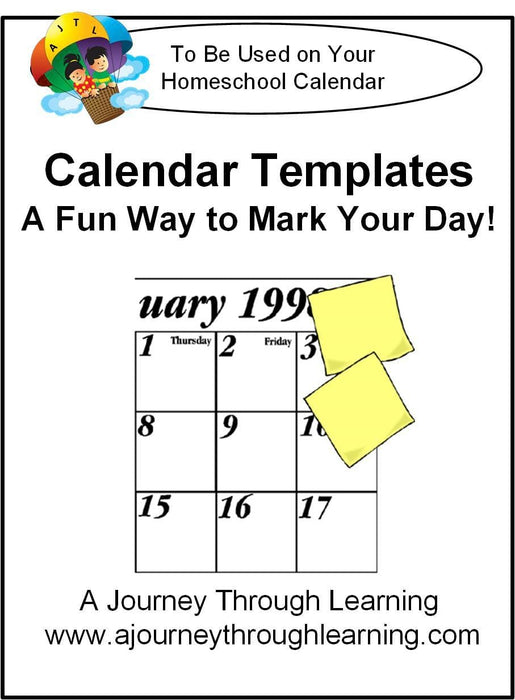 Calendar Templates | A Journey Through Learning Lapbooks