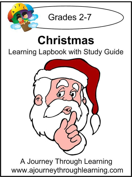 Christmas Lapbook with Study Guide - A Journey Through Learning Lapbooks