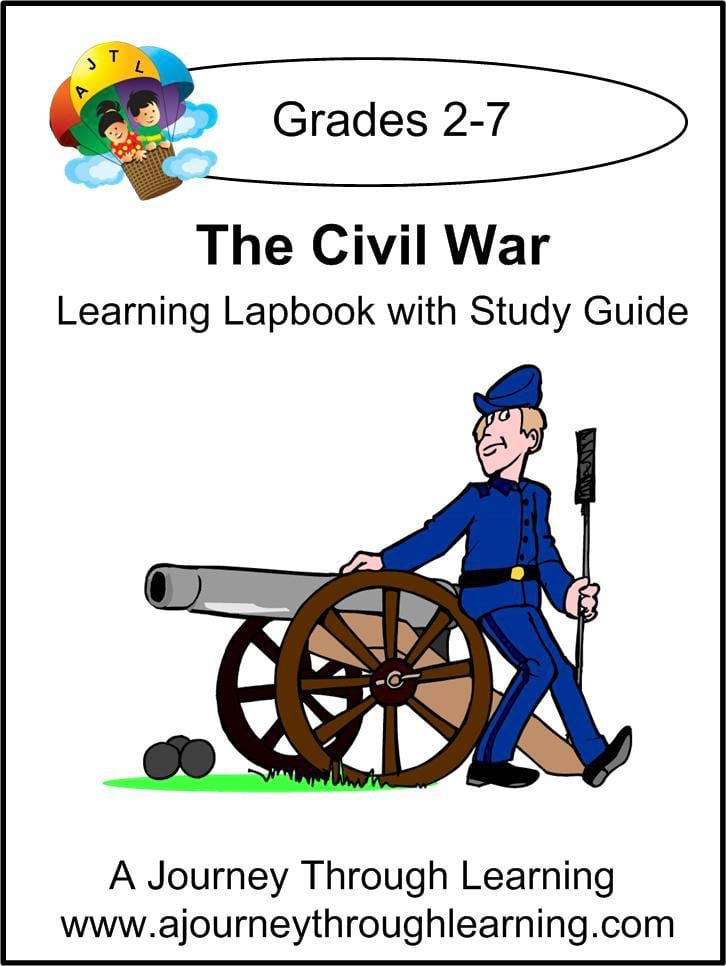 Civil War Lapbook with Study Guide - A Journey Through Learning Lapbooks
