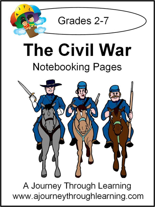 Civil War Notebooking Pages | A Journey Through Learning Lapbooks