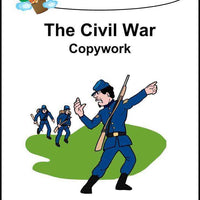 Civil War Copywork (printed letters) - A Journey Through Learning Lapbooks