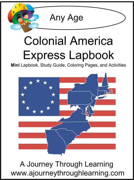 Colonial America Express Lapbook - A Journey Through Learning Lapbooks