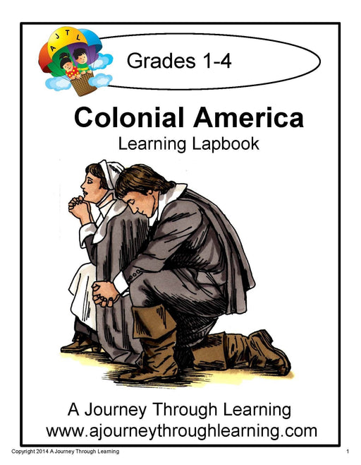 Colonial America Lapbook with Study Guide - A Journey Through Learning Lapbooks