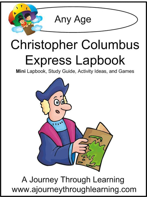 Christopher Columbus Express Lapbook | A Journey Through Learning Lapbooks