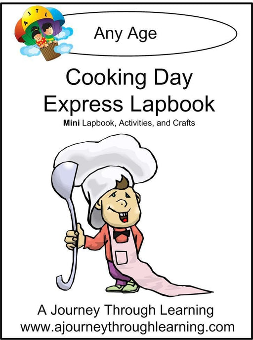 Cooking Day Express Lapbook - A Journey Through Learning Lapbooks
