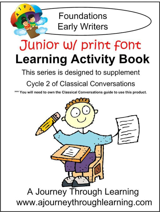 Junior Classical Conversations Cycle 2 Learning Activity Book (PRINT Font) - A Journey Through Learning Lapbooks
