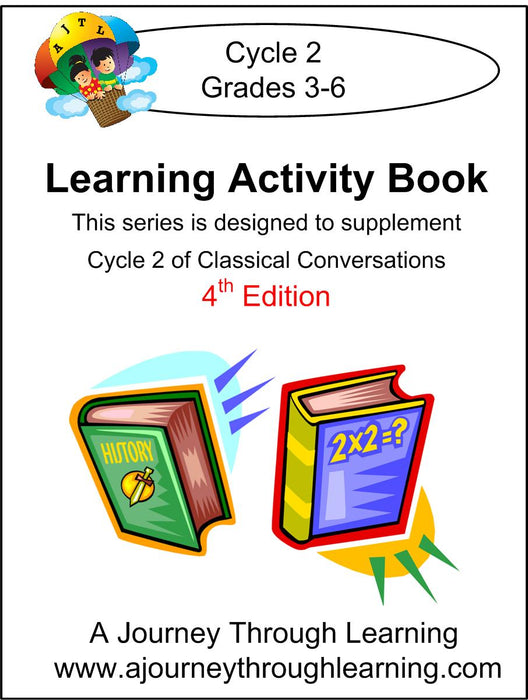 Classical Conversations Learning Activity Book 4th Edition Cycle 2 - A Journey Through Learning Lapbooks