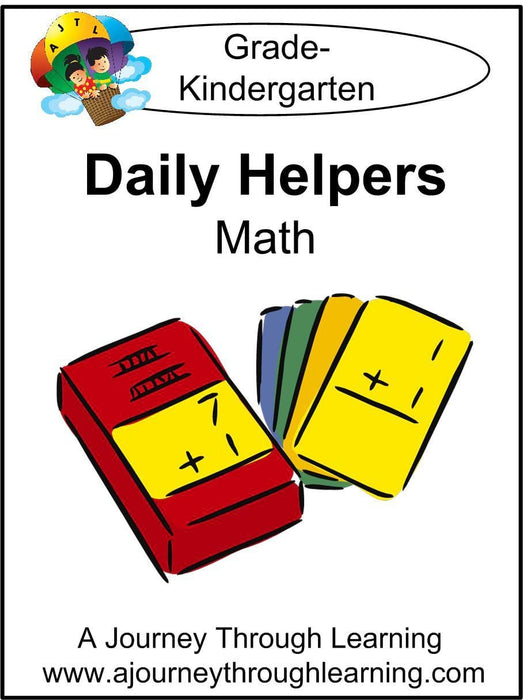 Daily Helper Kindergarten Math Lapbook - A Journey Through Learning Lapbooks