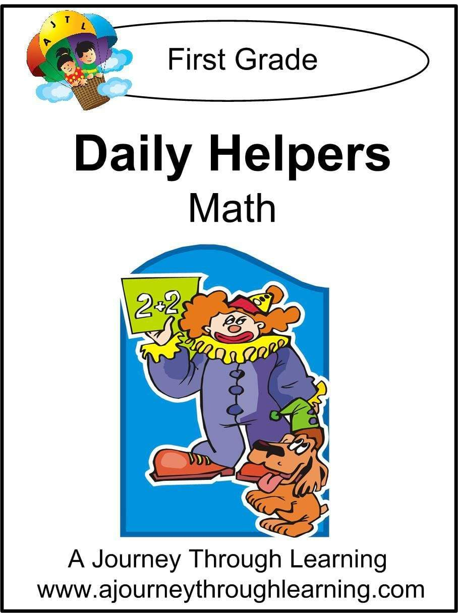 Daily Helper Grade 1 Math Lapbook - A Journey Through Learning Lapbooks