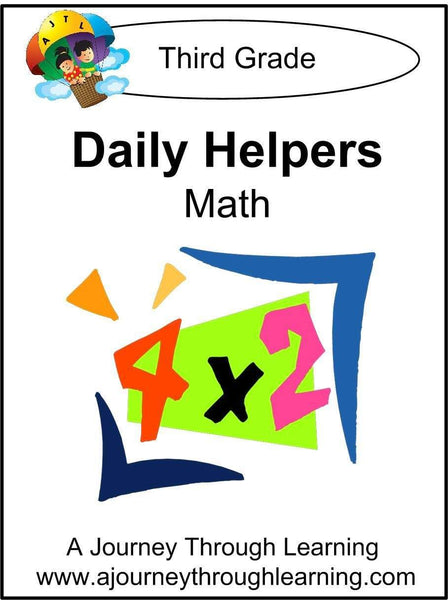 Daily Helper Grade 3 Math Lapbook - A Journey Through Learning Lapbooks