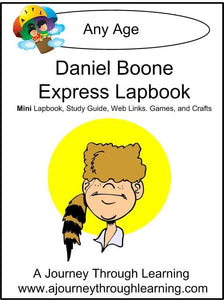 Daniel Boone Express Lapbook - A Journey Through Learning Lapbooks