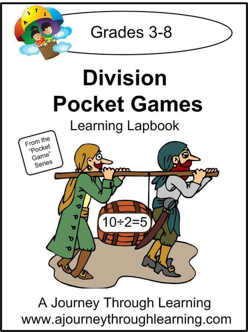 Division Pockets Lapbook - A Journey Through Learning Lapbooks