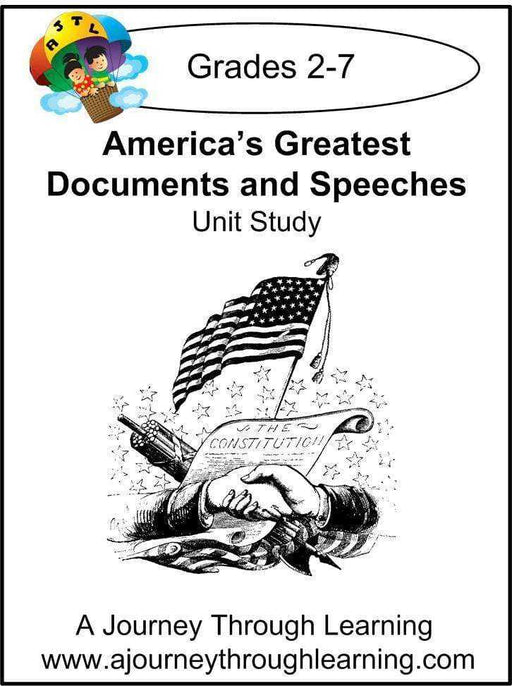 America's Greatest Documents and Speeches Unit Study | A Journey Through Learning Lapbooks