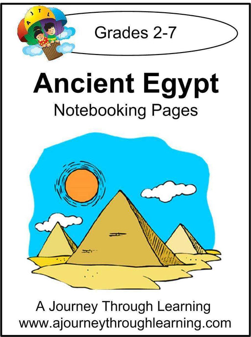 Ancient Egypt Notebooking Pages | A Journey Through Learning Lapbooks