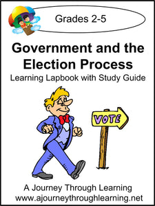 Government and the Election Process Grades 2-5 Lapbook with Study Guide