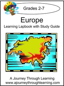 Europe Lapbook with Study Guide - A Journey Through Learning Lapbooks
