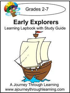Early Explorers Lapbook with Study Guide - A Journey Through Learning Lapbooks
