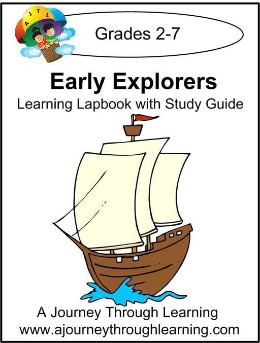 Early Explorers Lapbook with Study Guide | A Journey Through Learning Lapbooks