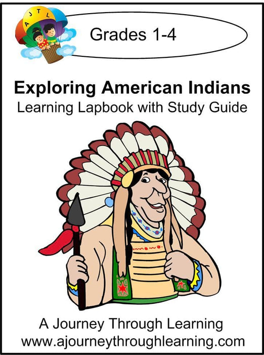 Exploring American Indians Lapbook with Study Guide | A Journey Through Learning Lapbooks