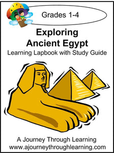 Exploring Ancient Egypt Lapbook with Study Guide - A Journey Through Learning Lapbooks