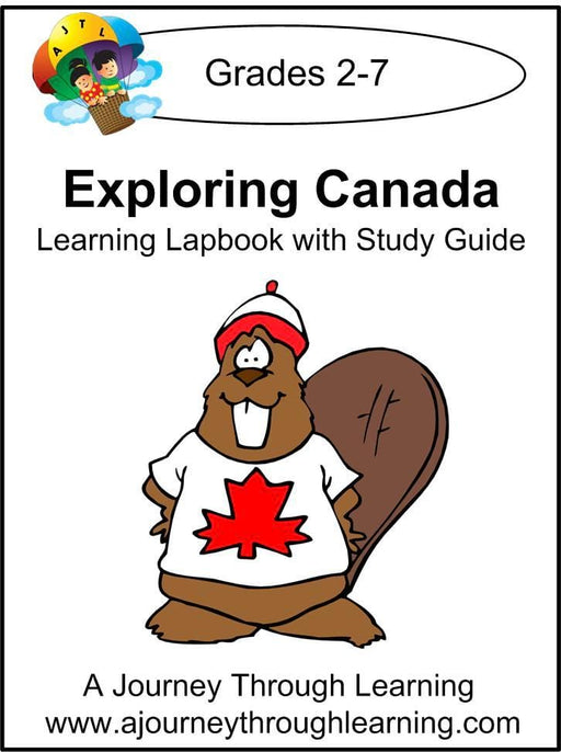 Exploring Canada Lapbook with Study Guide - A Journey Through Learning Lapbooks