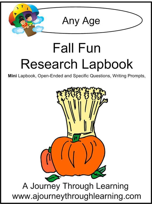 Fall Fun Research Express Lapbook - A Journey Through Learning Lapbooks