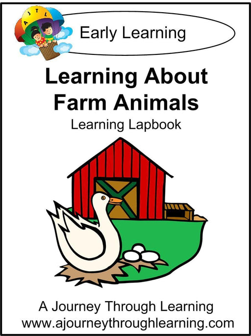 Learning About Farm Animals Lapbook | A Journey Through Learning Lapbooks